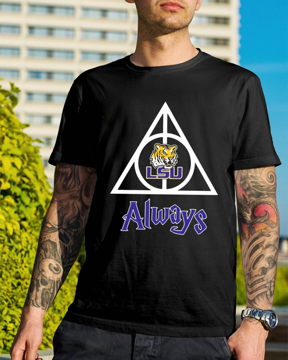 LSU Tigers Deathly Hallows always Harry Potter shirt