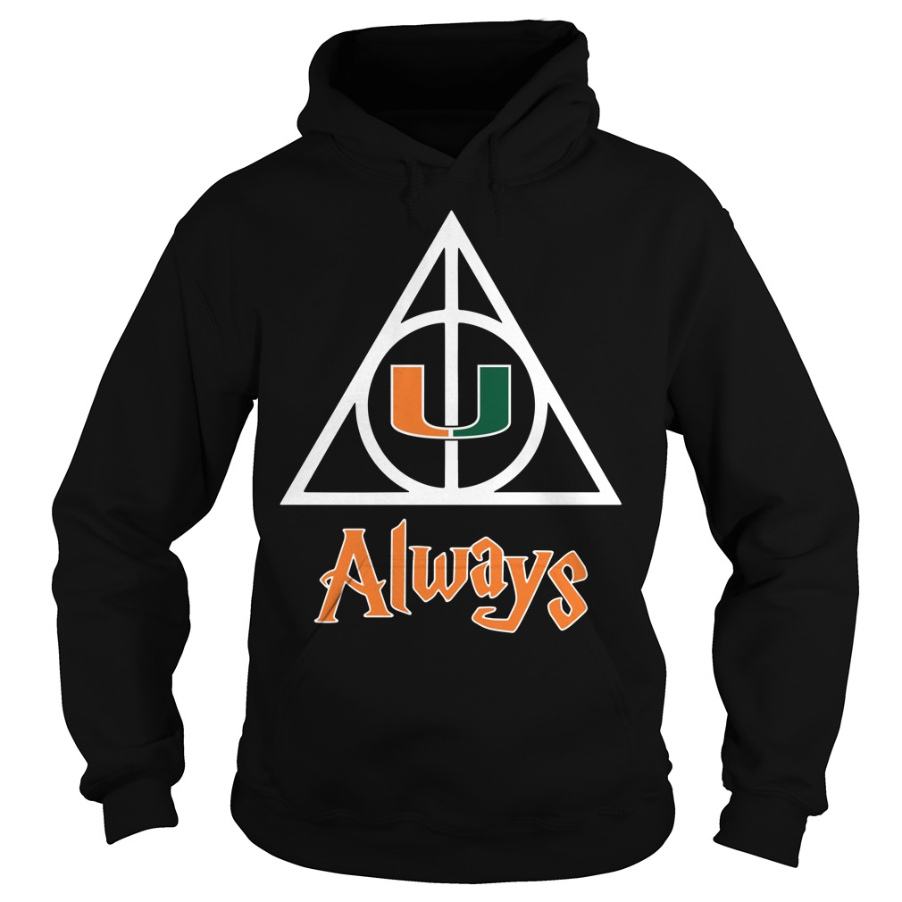 Miami Hurricanes Deathly Hallows always Harry Potter Hoodie
