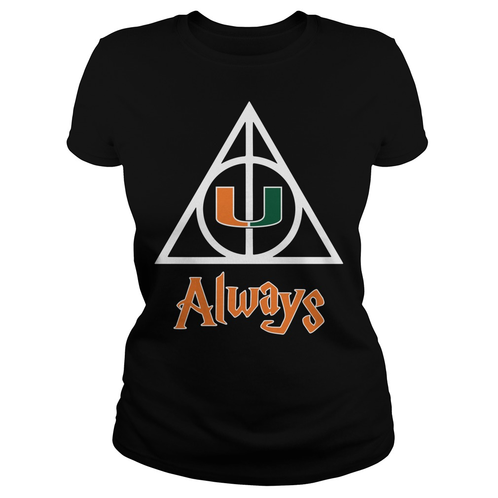 Miami Hurricanes Deathly Hallows always Harry Potter Ladies Tee