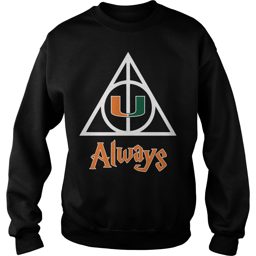 Miami Hurricanes Deathly Hallows always Harry Potter Sweater