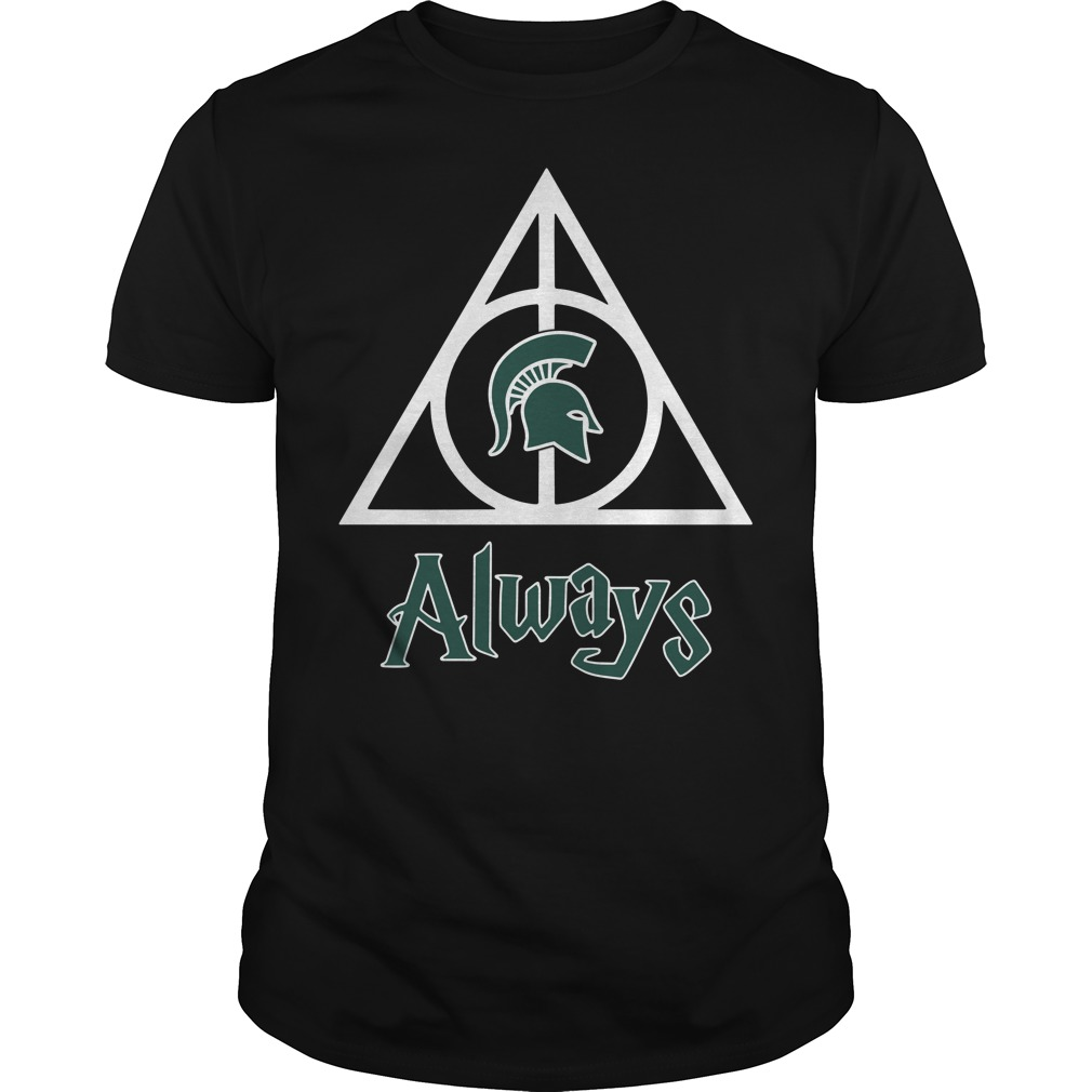 Michigan State Spartans Deathly Hallows always Harry Potter Guys Shirt