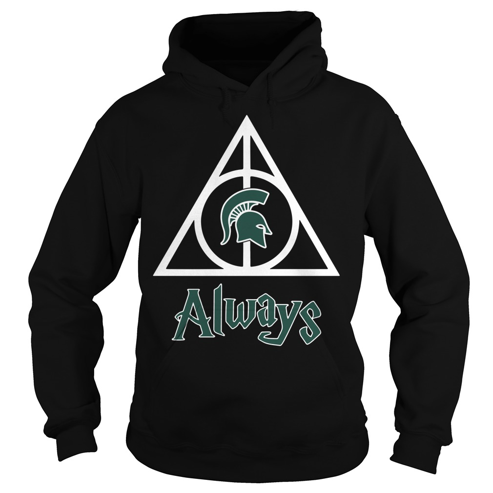Michigan State Spartans Deathly Hallows always Harry Potter Hoodie