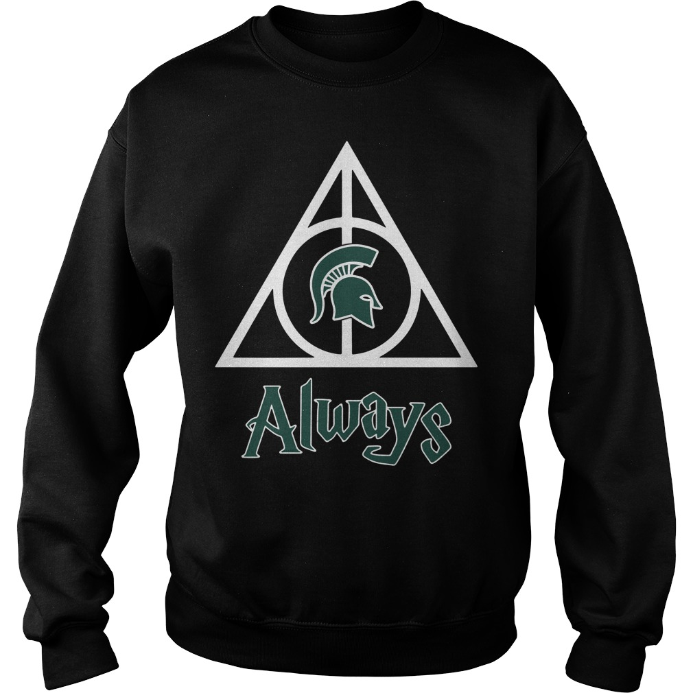 Michigan State Spartans Deathly Hallows always Harry Potter Sweater