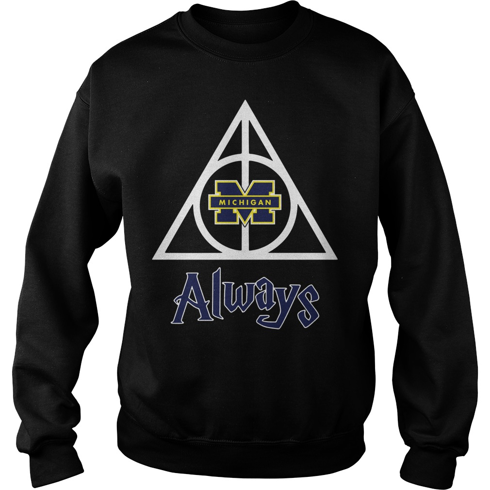 Michigan Wolverines Deathly Hallows always Harry Potter Sweater