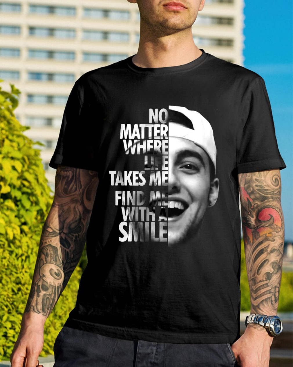 No matter where life takes me you'll find me with a smile Mac Miller shirt