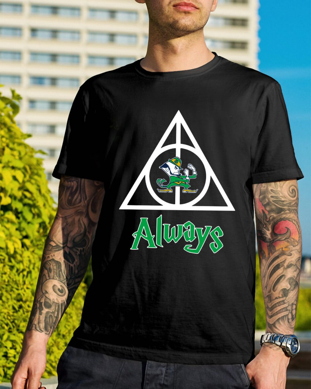 Notre Dame Fighting Irish Deathly Hallows always Harry Potter shirt