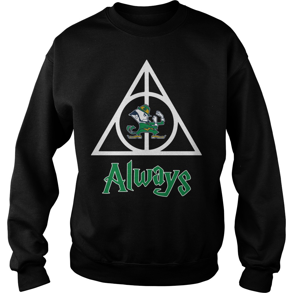 Notre Dame Fighting Irish Deathly Hallows always Harry Potter Sweater