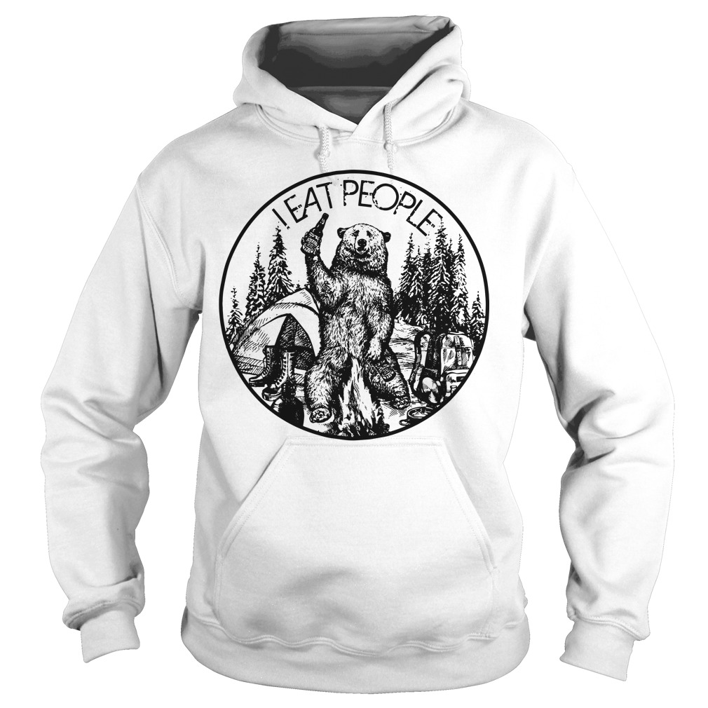 Official Bear camping I eat people Hoodie