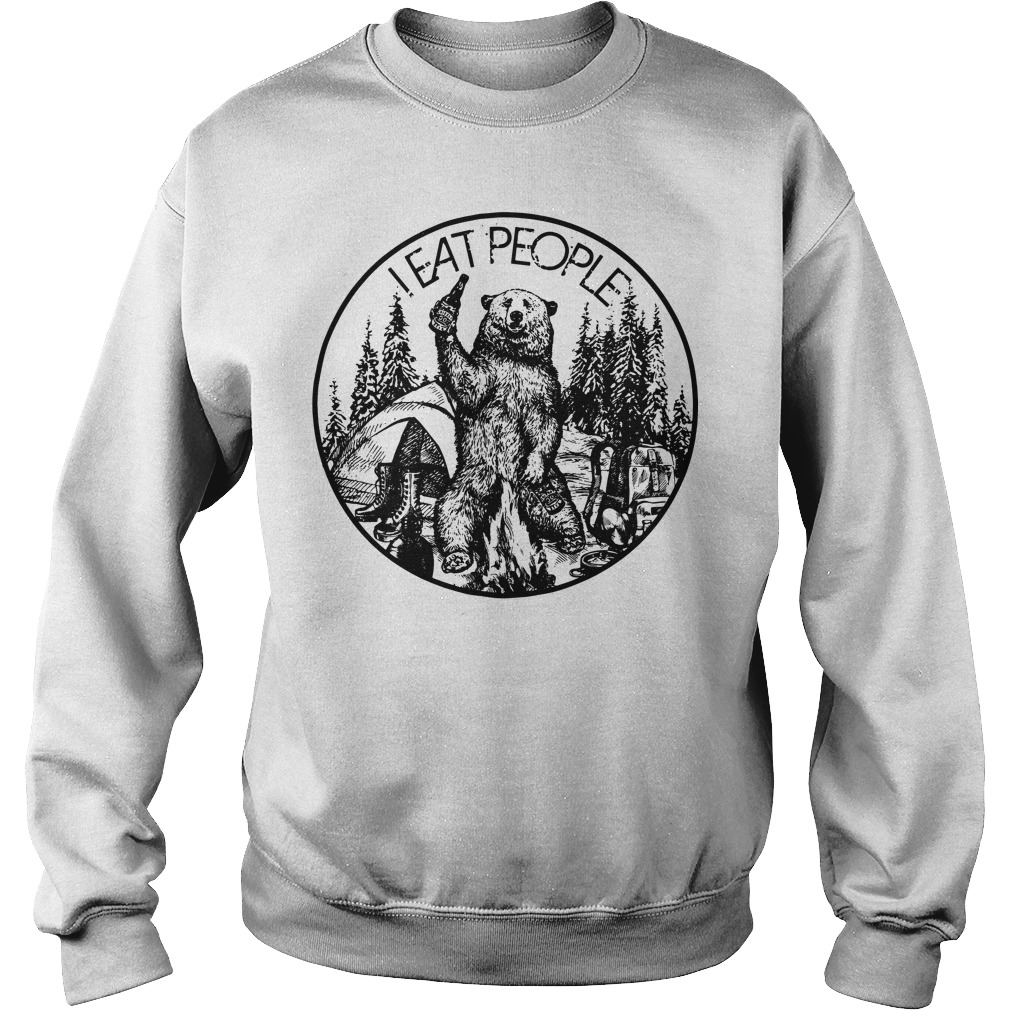 Official Bear camping I eat people Sweater