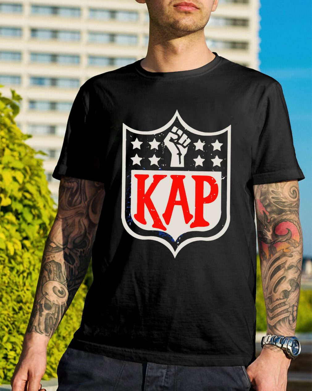Official Colin Kaepernick Kap NFL shield shirt