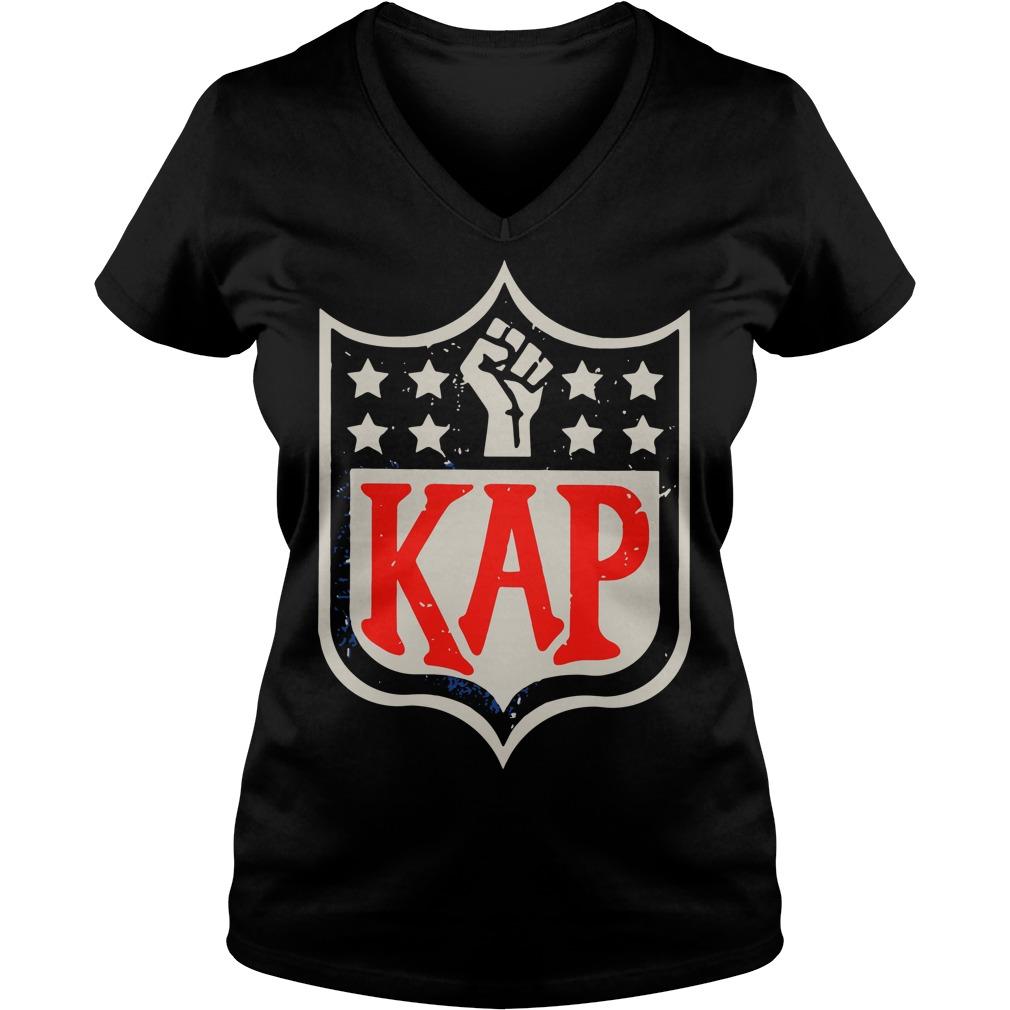 Official Colin Kaepernick Kap NFL shield V-neck T-shirt