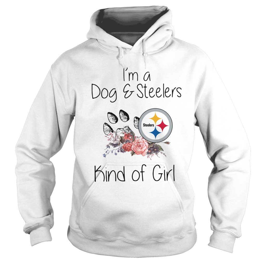 Official I'm a dog and Steelers kind of girl Hoodie