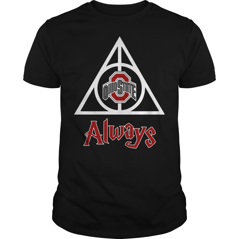 Ohio State Deathly Hallows Always Harry Potter Guys Shirt