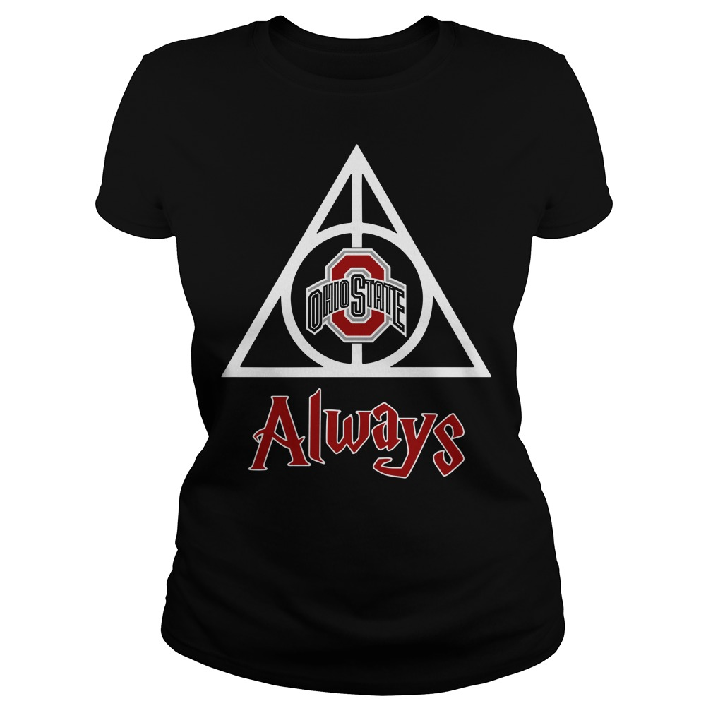 Ohio State Deathly Hallows Always Harry Potter Ladies Tee