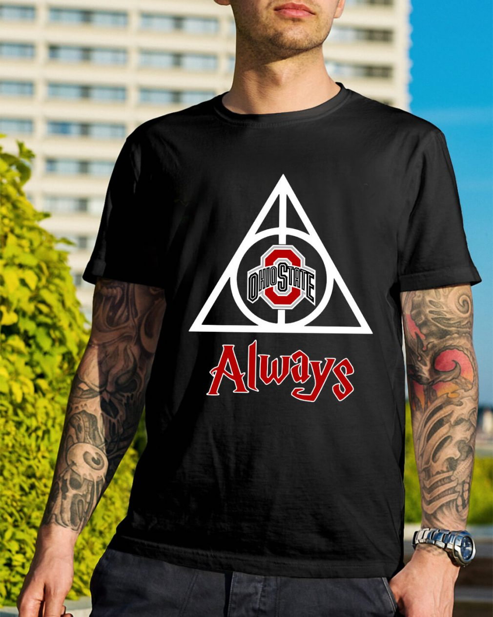 Ohio State Deathly Hallows Always Harry Potter shirt