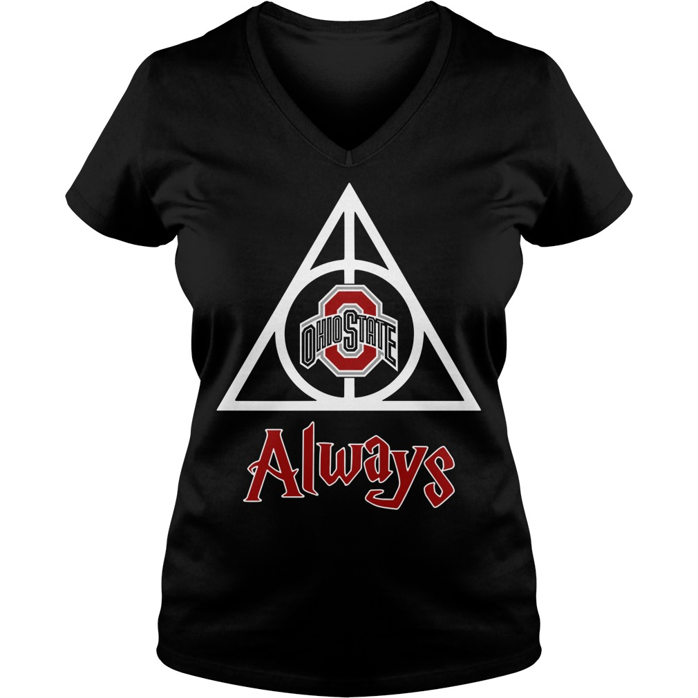Ohio State Deathly Hallows Always Harry Potter V-neck T-shirt