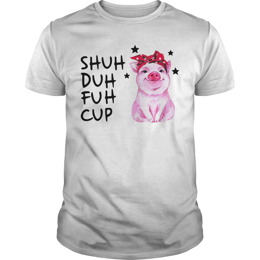 Pig wearing bandana shuh duh fuh cup Guys Shirt