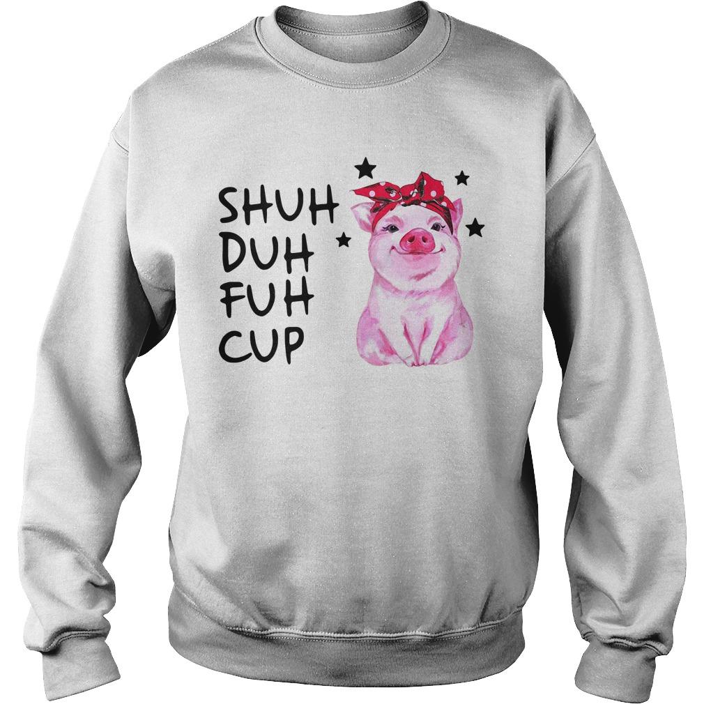 Pig wearing bandana shuh duh fuh cup Sweater