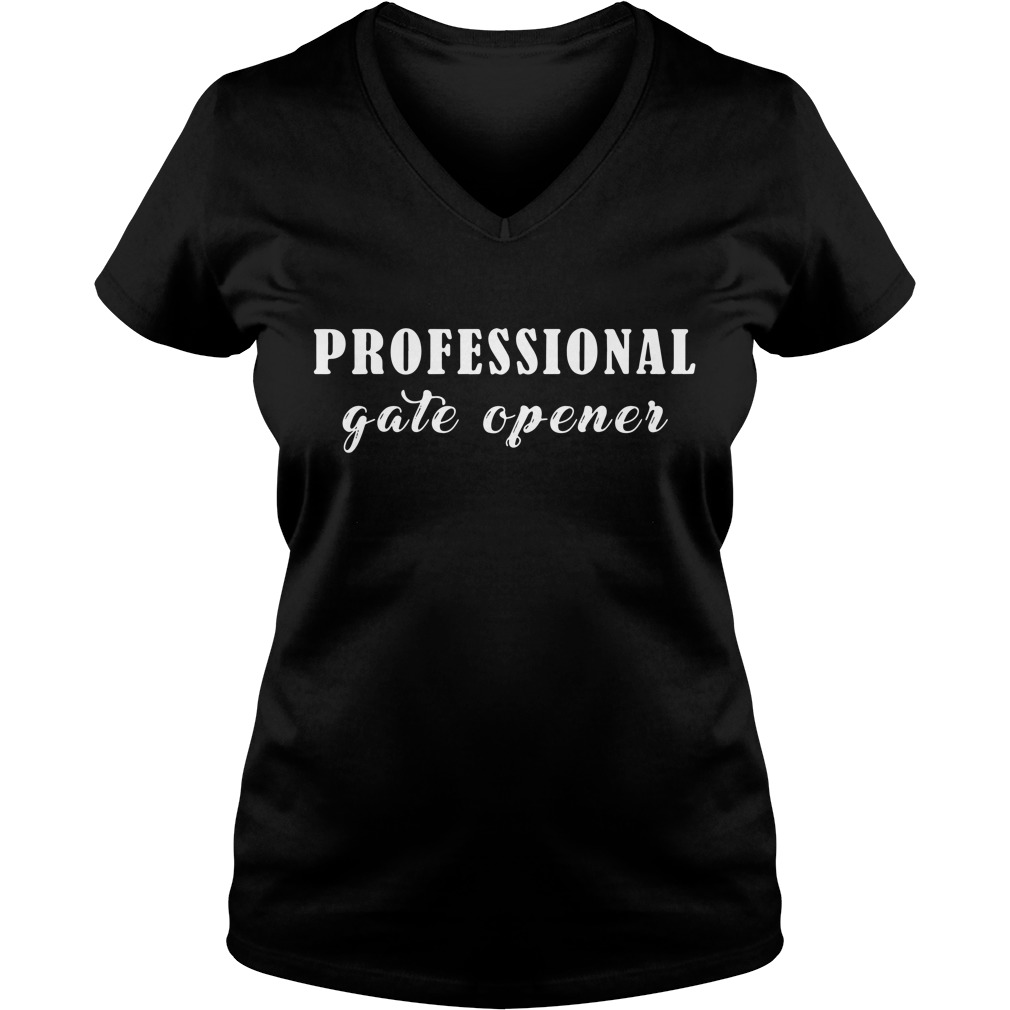 Professional gate opener V-neck T-shirt