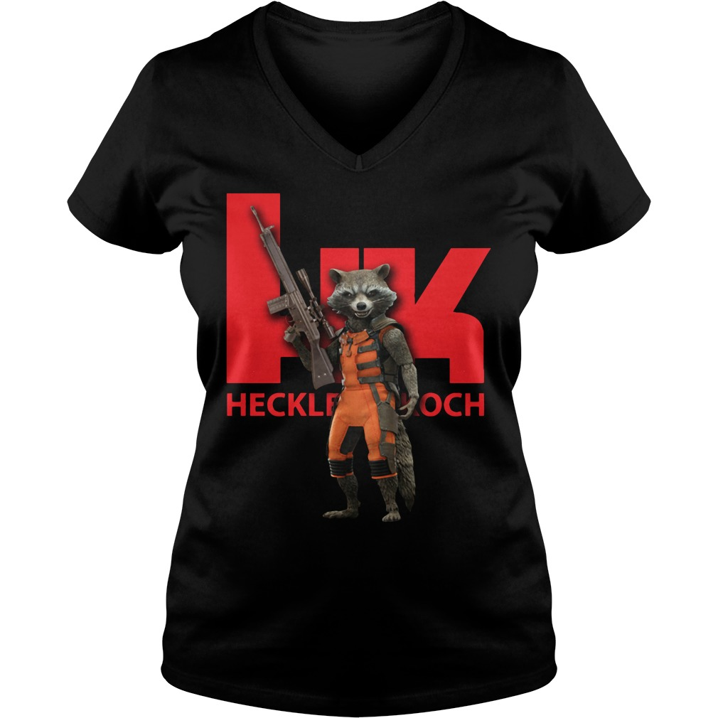 Rocket HK Heckler and Koch V-neck T-shirt