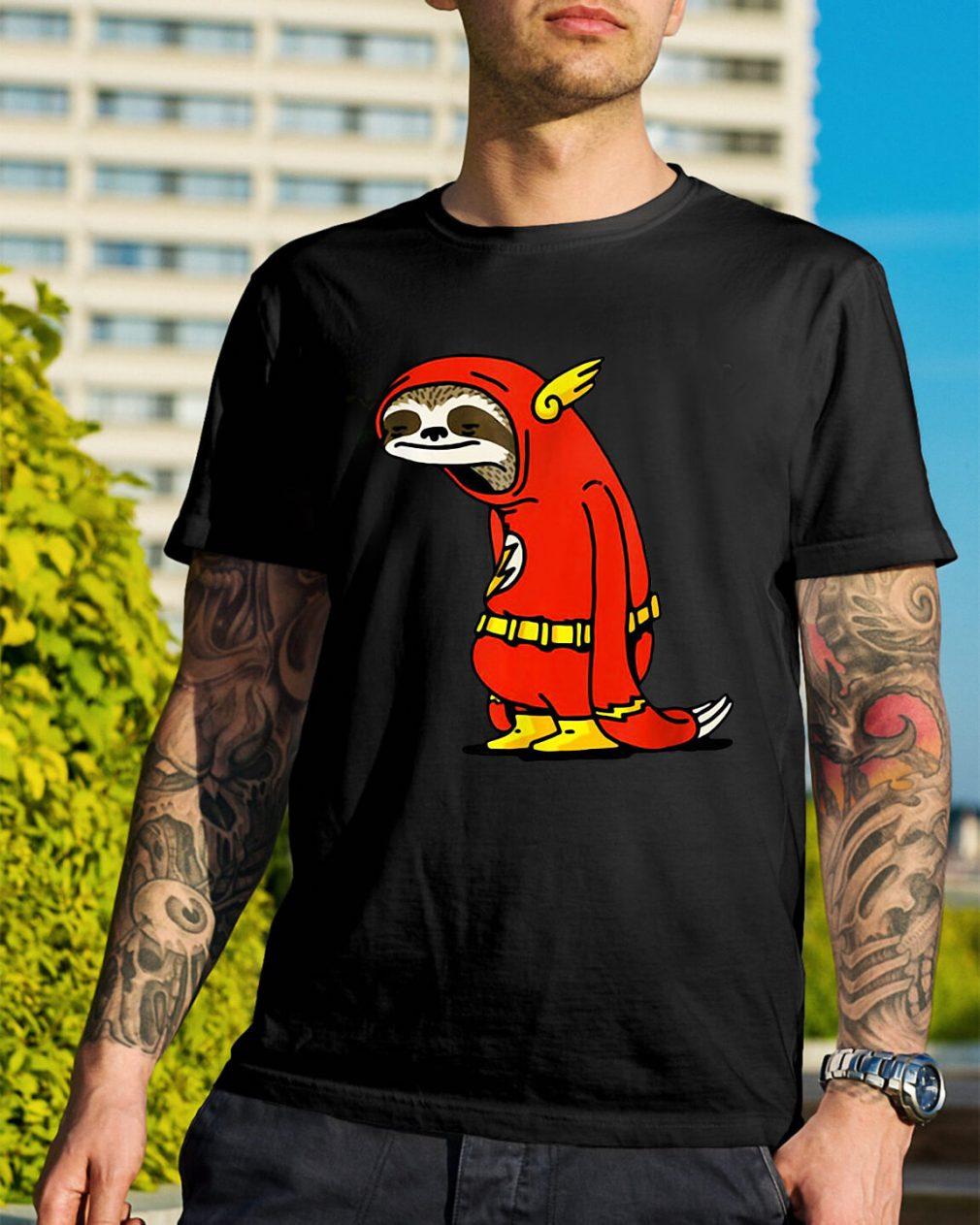 Sloth in flash shirt