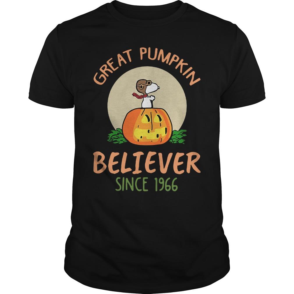 Snoopy great pumpkin believer since 1966 Guys Shirt