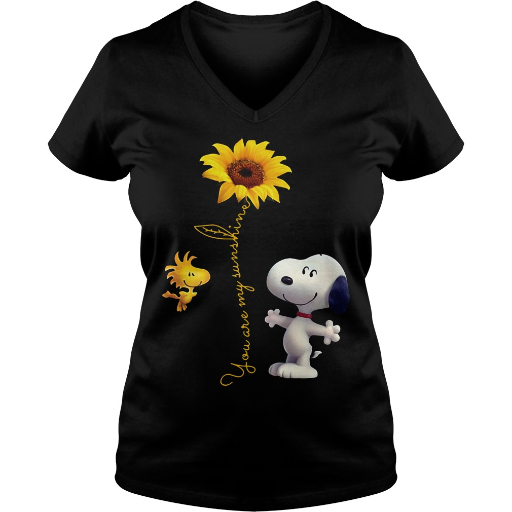 Snoopy and Woodstock you are my sunshine V-neck T-shirt