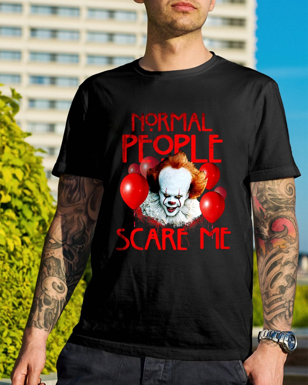 Stephen King's IT normal people scare me shirt