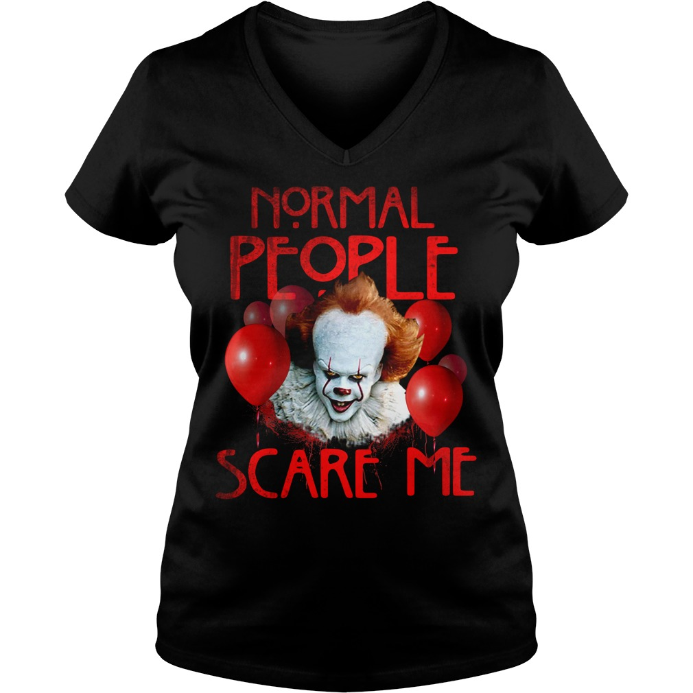 Stephen King's IT normal people scare me V-neck T-shirt