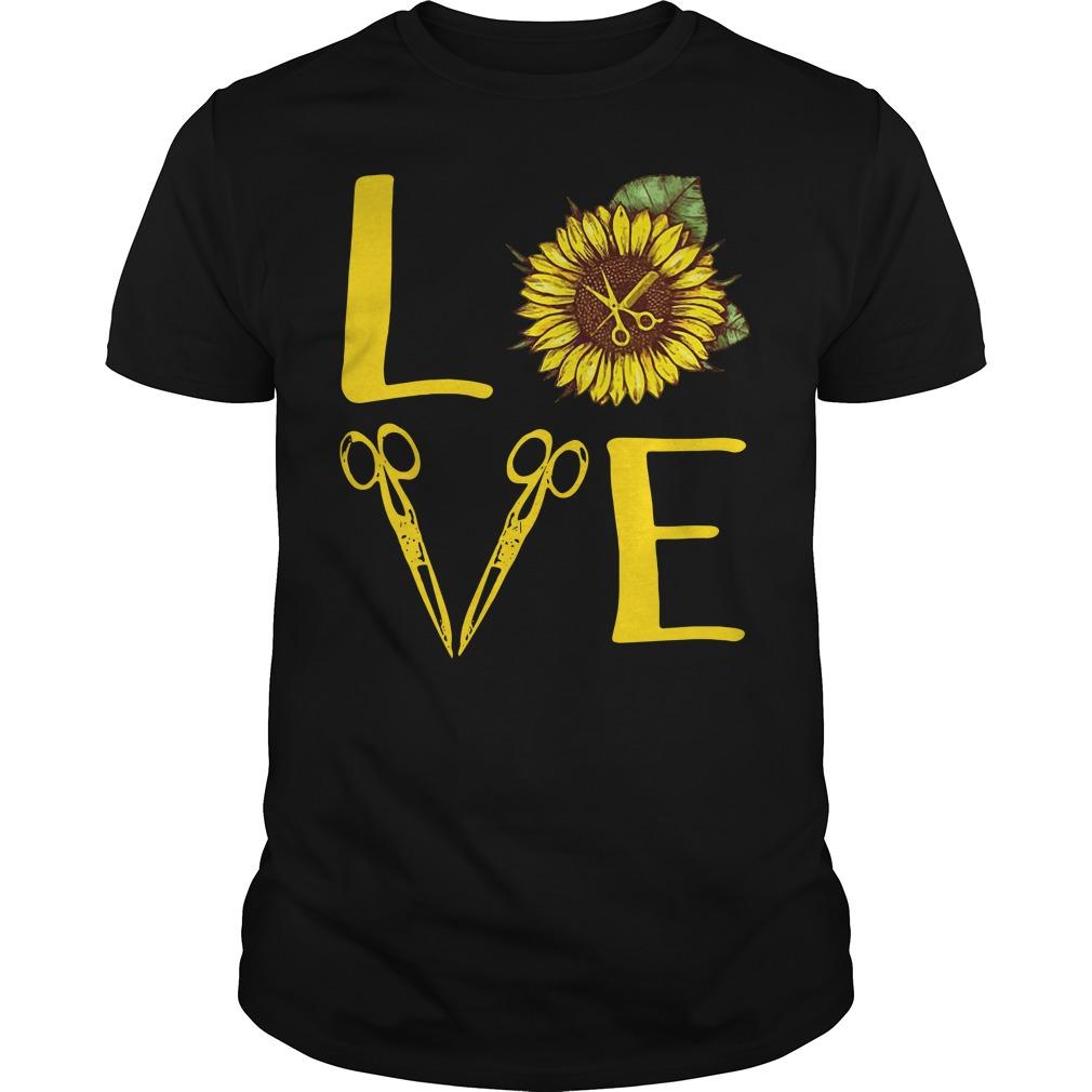 Sunflower hairdresser love Guys Shirt