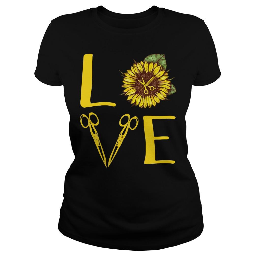Sunflower hairdresser love Ladies Tee