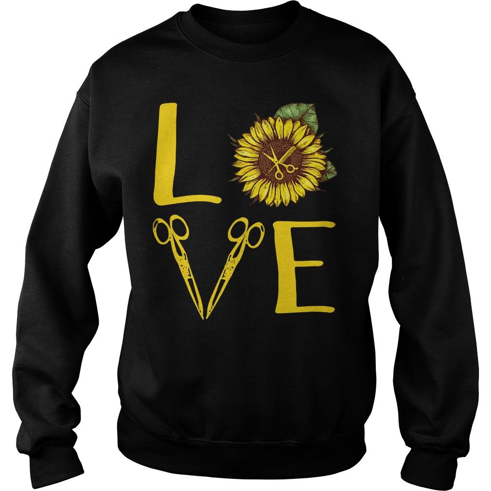 Sunflower hairdresser love Sweater
