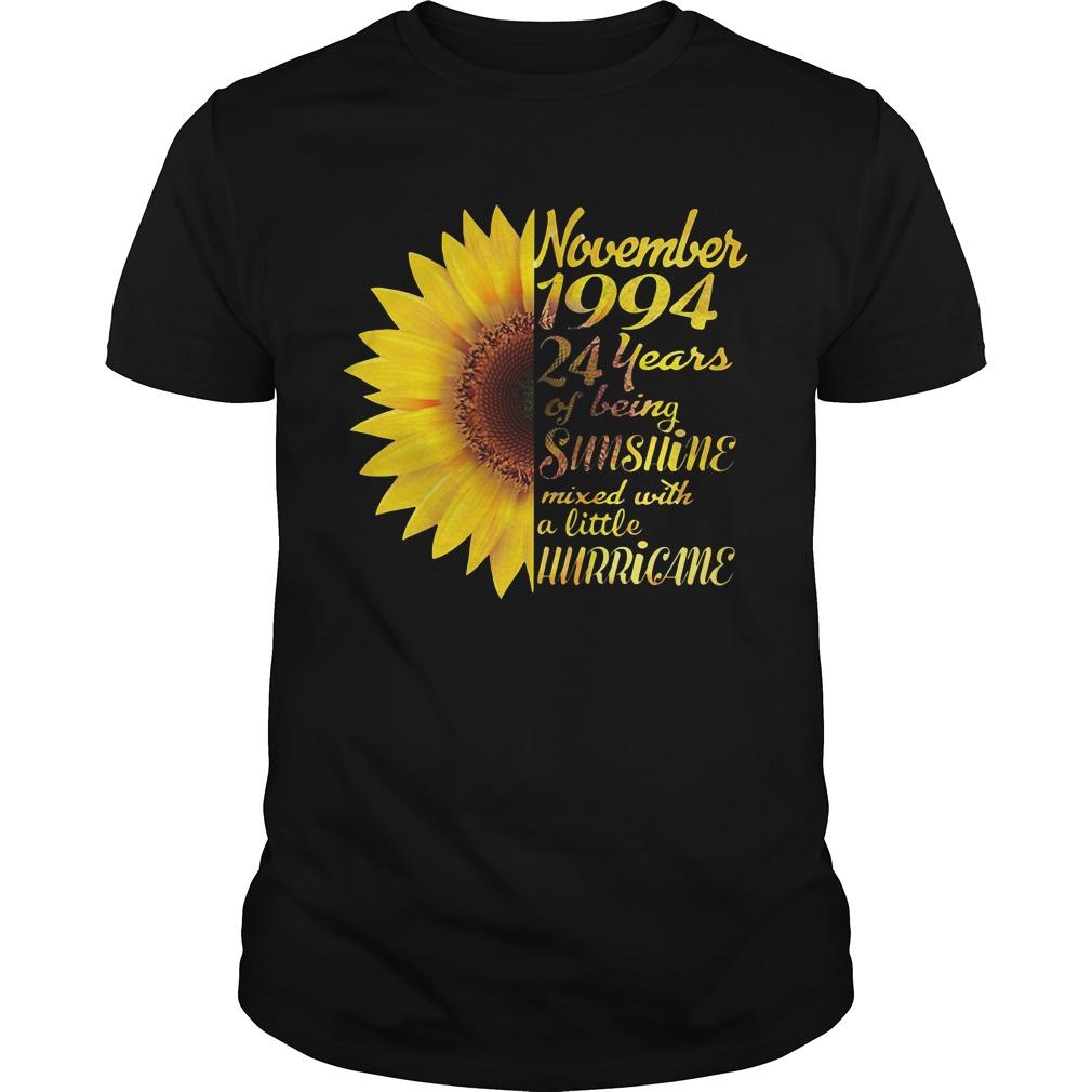 Sunflower November 1994 24 years of being sunshine mixed Guys Shirt