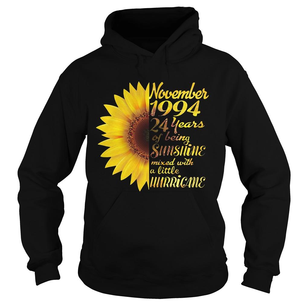 Sunflower November 1994 24 years of being sunshine mixed Hoodie