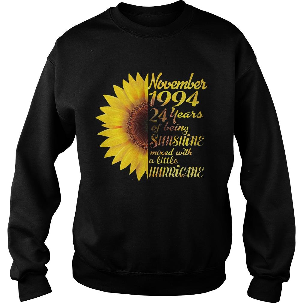 Sunflower November 1994 24 years of being sunshine mixed Sweater