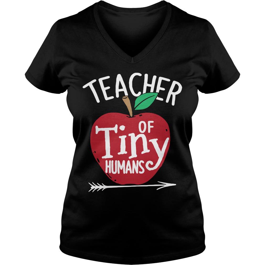 Teacher of tiny humans V-neck T-shirt