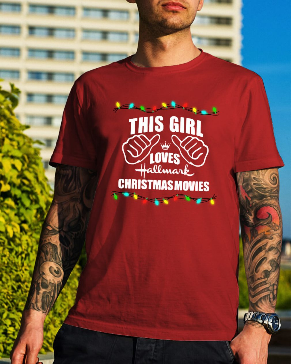 This girl loves Hallmark Christmas movies shirt