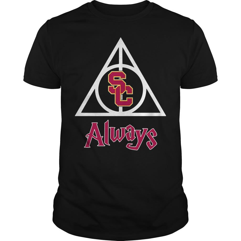 USC Trojans Deathly Hallows Always Harry Potter Guys Shirt