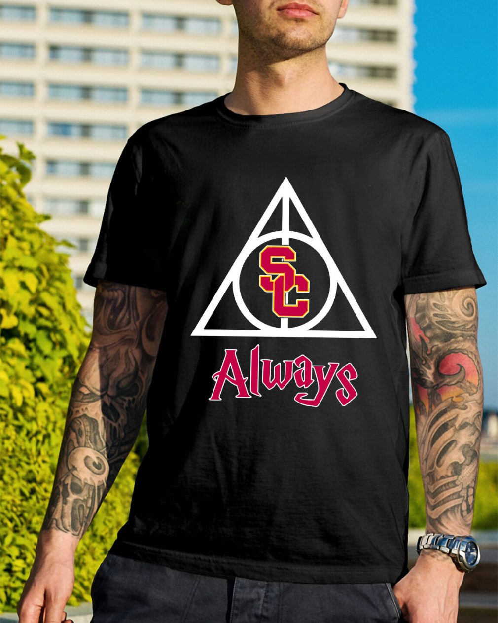 USC Trojans Deathly Hallows Always Harry Potter shirt