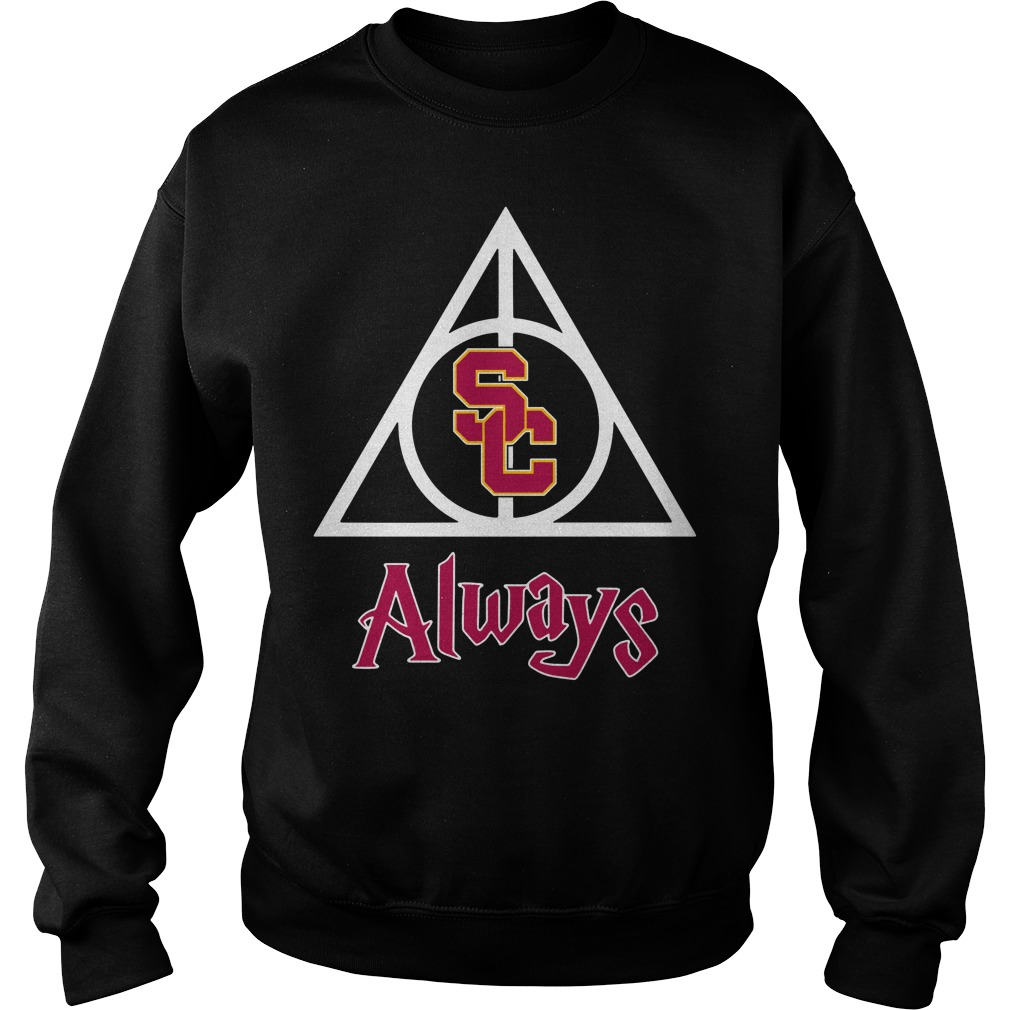 USC Trojans Deathly Hallows Always Harry Potter Sweater