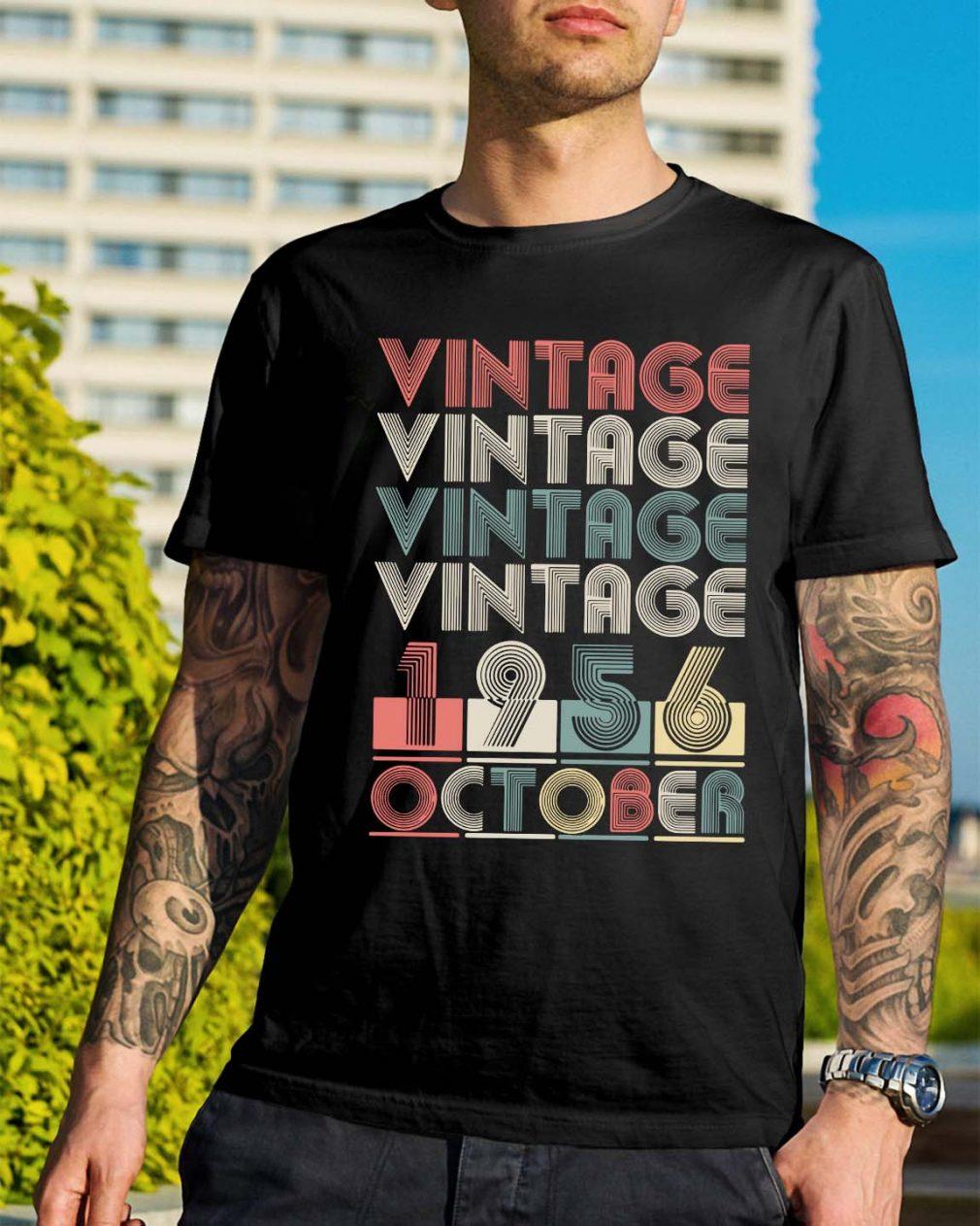 Vintage vintage vintage vintage 1956 October shirt