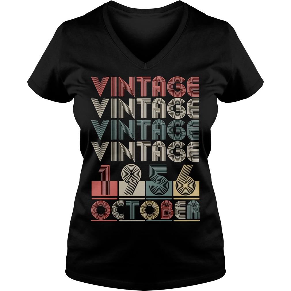 Vintage vintage vintage vintage 1956 October V-neck T-shirt