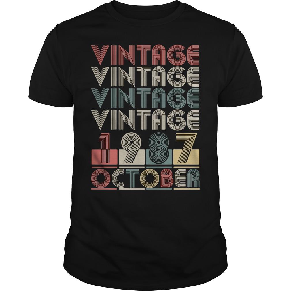 Vintage vintage vintage vintage 1987 October Guys Shirt