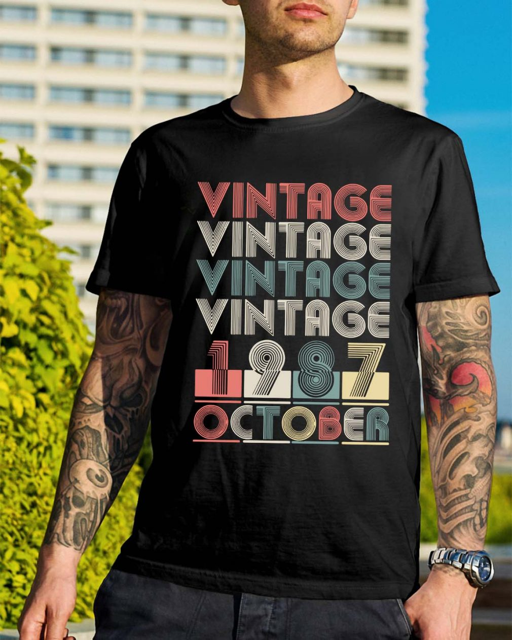Vintage vintage vintage vintage 1987 October shirt