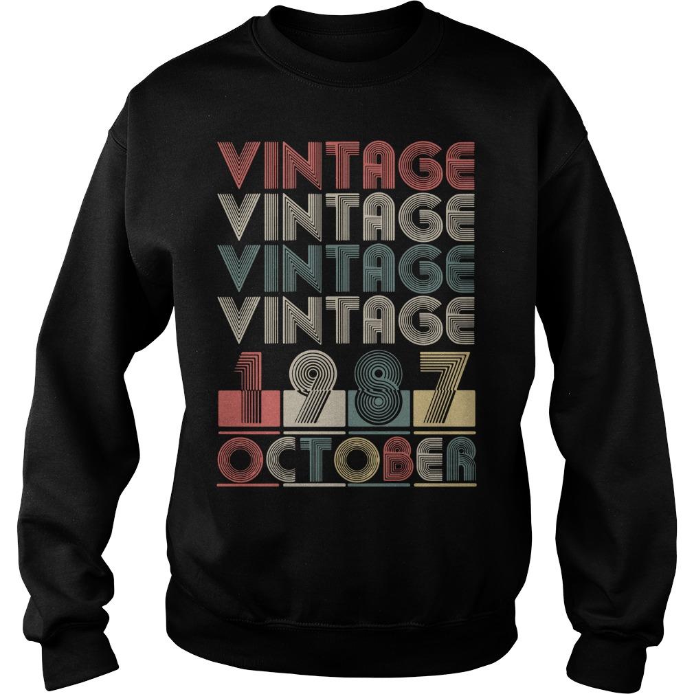 Vintage vintage vintage vintage 1987 October Sweater