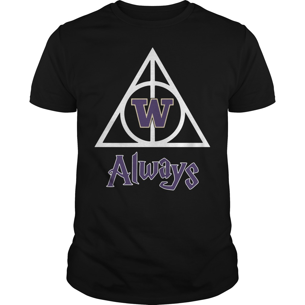 Washington Husky Deathly Hallows Always Harry Potter Guys Shirt