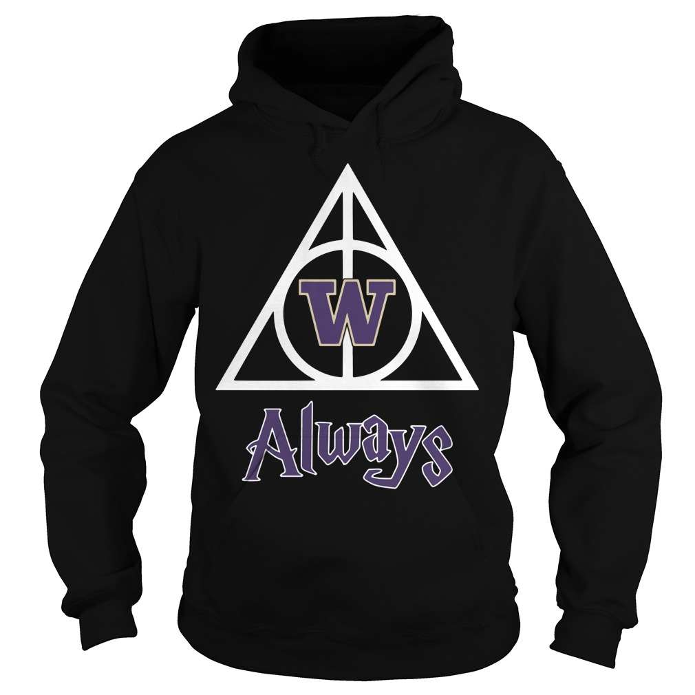 Washington Husky Deathly Hallows Always Harry Potter Hoodie