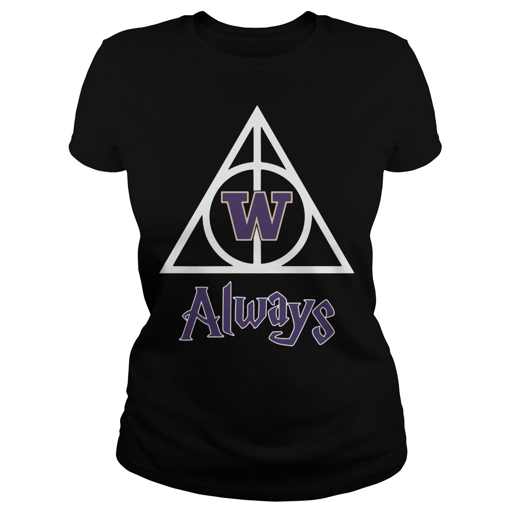 Washington Husky Deathly Hallows Always Harry Potter Ladies Tee