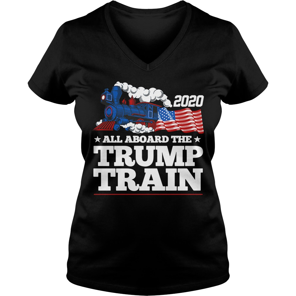 2020 all aboard the Trump Train V-neck T-shirt