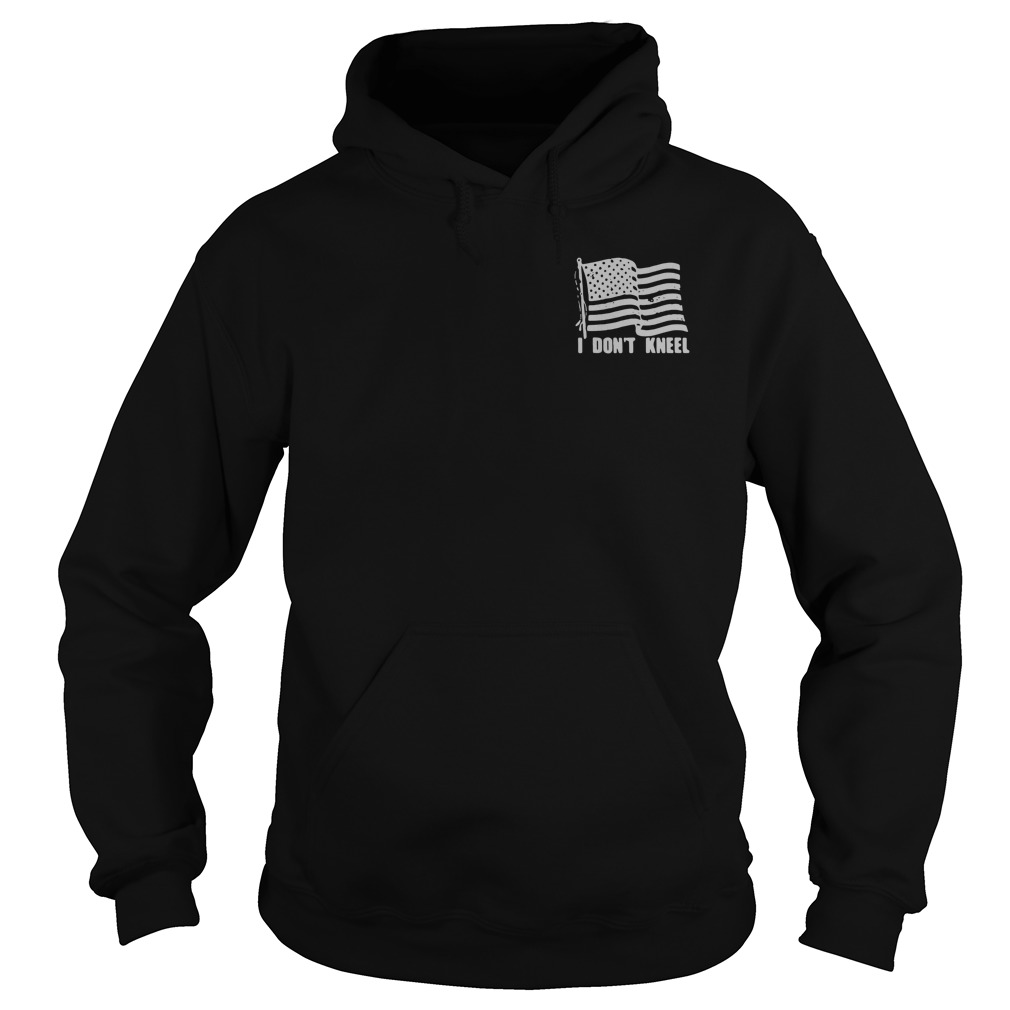 Americans stand for the Flag to honor those who died for it Hoodie